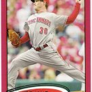 TRAVIS WOOD 2012 Topps Red Border Parallel INSERT Card #142 Cincinnati Reds FREE SHIPPING Baseball