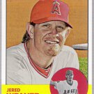 JERED WEAVER 2012 Topps Heritage SHORT PRINT Card #497 Los Angeles Anaheim Angels FREE SHIPPING