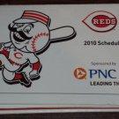 CINCINNATI REDS 2010 Baseball Season Pocket Schedule PNC Great American Ballpark FREE SHIPPING