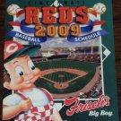 CINCINNATI REDS 2009 Baseball Season Pocket Schedule Frisch Great American Ballpark FREE SHIPPING