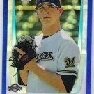 DREW GAGNON 2011 Bowman CHROME Draft BLUE REFRACTOR Rookie Card #BDPP34 Milwaukee Brewers #d /199