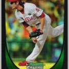 MICHAEL STUTES 2011 Bowman CHROME Draft REFRACTOR Rookie Card #84 Philadelphia Phillies