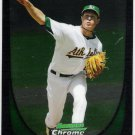 TRYSTAN MAGNUSON 2011 Bowman CHROME ROOKIE Card #61 Oakland A's FREE SHIPPING Baseball 61