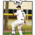 DAVID WRIGHT 2008 Topps Card #340 New York Mets Baseball FREE SHIPPING 340