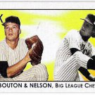 JIM BOUTON & ROBERT C NELSON 2010 Tristar Obak MINI INSERT Card #33 Big League Chew FREE SHIPPING