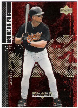 Cal Ripken Jr 2001 Upper Deck Black Diamond Card 21 Baltimore