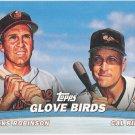 CAL RIPKEN JR & BROOKS ROBINSON 2001 Topps Combos Glove Birds INSERT Card #TC3 BALTIMORE ORIOLES TC3