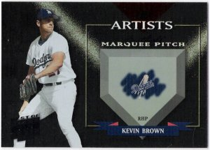 KEVIN BROWN 2002 Donruss Best Of Fan Club Artist INSERT Card #'d 54/300 LOS ANGELES DODGERS #A-3