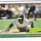 RICKEY HENDERSON 1991 Topps Cracker Jack MINI Card #18 OAKLAND A'S Baseball FREE SHIPPING 18