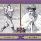 LOU GEHRIG & MEL OTT 2002 Fleer Fall Classics Card #91 NEW YORK YANKEES METS Baseball FREE SHIPPING