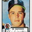 EDDIE MATHEWS 2001 Topps Archives Card #8 ATLANTA BRAVES Milwaukee FREE SHIPPING 8