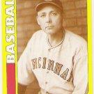 EDD ROUSH 1991 Swell Baseball Greats Card #134 CINCINNATI REDS Rare Oddball FREE SHIPPING