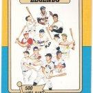 HOME RUN LEGENDS 1986 Big League Chew Card #12 500 Home Runs Club BABE RUTH FREE SHIPPING