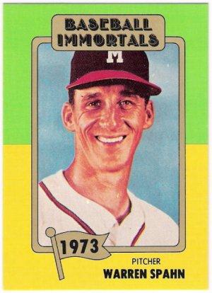 Warren Spahn 1980 87 Sspc Hof Baseball Immortals Card 139
