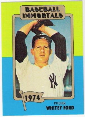 Whitey Ford 1980 87 Sspc Hof Baseball Immortals Card 144