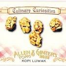 KOPI LUWAK 2012 Topps Allen & Ginter Culinary Curiosities INSERT Card #CC3 Baseball FREE SHIPPING