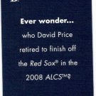 DAVID PRICE 2012 Topps Allen & Ginter Ever Wonder PROMO Card TAMPA BAY RAYS Baseball FREE SHIPPING