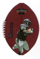 NATRONE MEANS 1998 Playoff Contenders Leather Card #76 SAN DIEGO CHARGERS Football FREE SHIPPING 76