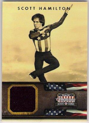 SCOTT HAMILTON 2012 Panini Americana Heroes & Legends EVENT USED Card #112 #d 385/499 FREE SHIPPING