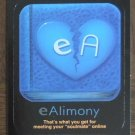EALIMONY 2013 Topps Wacky Packages Awful Apps INSERT Sticker Card #6 Series 10 FREE SHIPPING Alimony