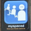 MYSPACED 2013 Topps Wacky Packages Awful Apps INSERT Sticker Card #5 Series 10 FREE SHIPPING 5