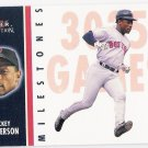 RICKEY HENDERSON 2003 Fleer Tradition Milestones INSERT Card # 2MS BOSTON RED SOX Baseball FREE SHIP