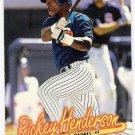 RICKEY HENDERSON 1997 Fleer GOLD Medallion Parallel INSERT Card #G285 SAN DIEGO PADRES Baseball G285