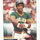 RICKEY HENDERSON 1984 Topps Highlight Card #2 OAKLAND A'S Baseball FREE SHIPPING 2 HOF