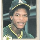 RICKEY HENDERSON 1983 Fleer ERROR Card #519 OAKLAND A'S Baseball FREE SHIPPING 519 HOF UER