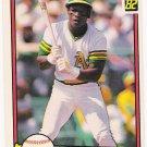 RICKEY HENDERSON 1982 Donruss Card #113 OAKLAND A'S Baseball FREE SHIPPING HOF 113