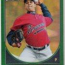 LUIS MEREJO 2013 Bowman Prospects CHROME Green REFRACTOR Baseball Card #BCP151 ATLANTA BRAVES 151