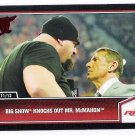 BIG SHOW Knocks Out MR. McMAHON 2013 Topps Best Of WWE Wrestling Card #17 FREE SHIPPING WWF 17 Vince
