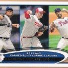 CLAYTON KERSHAW 2012 Topps ERA Leaders Card #297 CLIFF LEE Baseball ROY HALLADAY Free Shipping 297