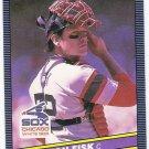 CARLTON FISK 1986 Leaf Card #163 CHICAGO WHITE SOX Baseball FREE SHIPPING 163