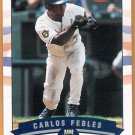 CARLOS FEBLES 2002 Fleer GOLD Backs INSERT Card #100 KANSAS CITY ROYALS #d 168/200 FREE SHIPPING 100