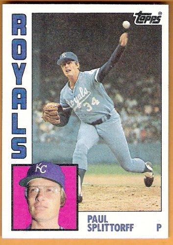 PAUL SPLITTORFF 1984 Topps Card #52 KANSAS CITY ROYALS Baseball FREE SHIPPING 52