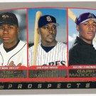 TIM RAINES GARRY MADDOX & GARY MATTHEWS JR 2002 Topps ROOKIE Card #445 FREE SHIPPING Baseball RC