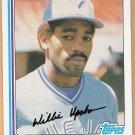 WILLIE UPSHAW 1982 Topps Card #196 TORONTO BLUE JAYS Baseball FREE SHIPPING 196