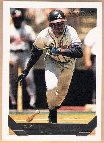 DEION SANDERS 1993 Topps GOLD Card #795 ATLANTA BRAVES Baseball FREE SHIPPING 795
