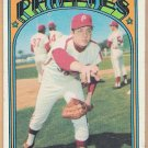 RICK WISE 1972 Topps Card #43 PHILADELPHIA PHILLIES Baseball FREE SHIPPING Not Mint Condition