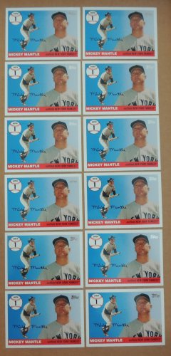 Lot of 21 MICKEY MANTLE 2006 Topps Home Run History INSERT Card #MHR1 NEW YORK YANKEES Free Shipping
