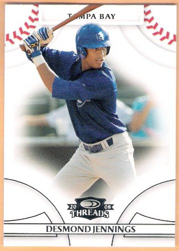 DESMOND JENNINGS 2008 Donruss Threads Baseball ROOKIE Card #96 Tampa Bay Rays FREE SHIPPING
