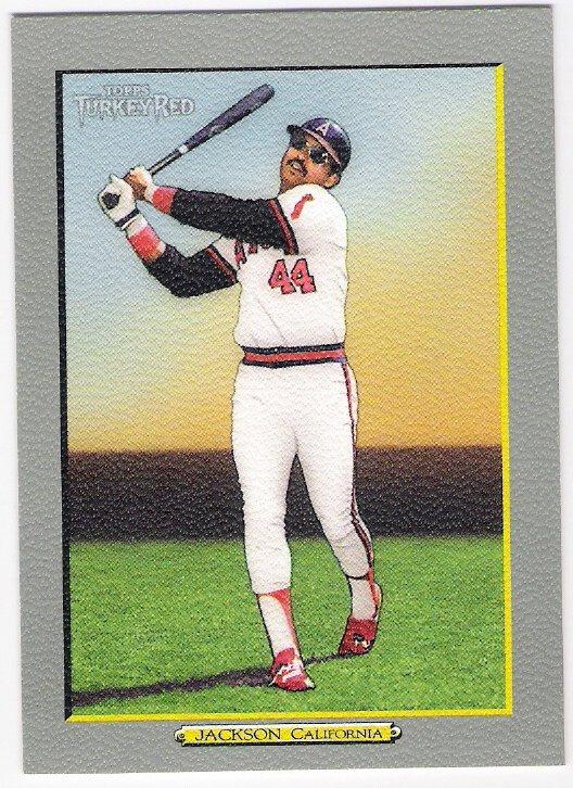 REGGIE JACKSON 2005 Topps Turkey Red Retired SP Card #302 Anaheim Angels FREE SHIPPING
