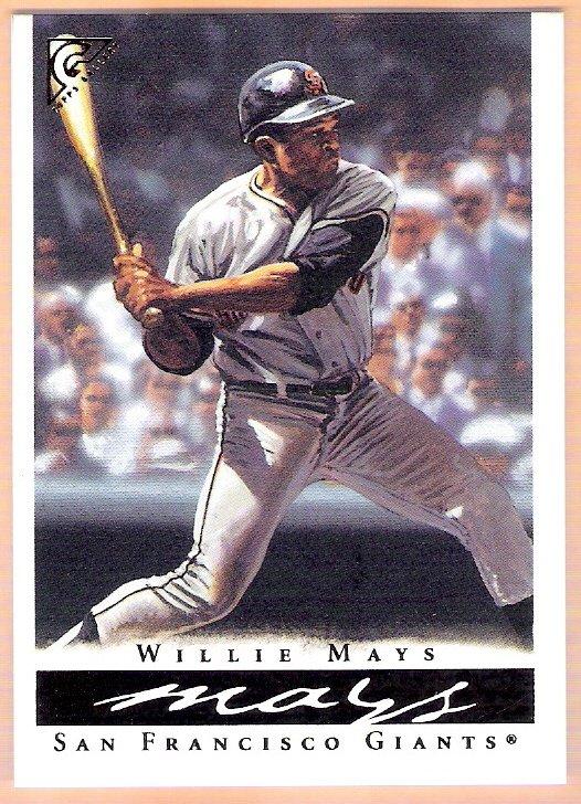 WILLIE MAYS 2003 Topps Gallery HOF Baseball Card # 1 San Francisco Giants FREE SHIPPING