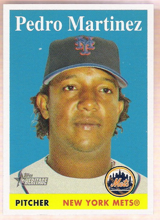 PEDRO MARTINEZ 2007 Topps Heritage SHORT PRINT Card #465 New York Mets FREE SHIPPING