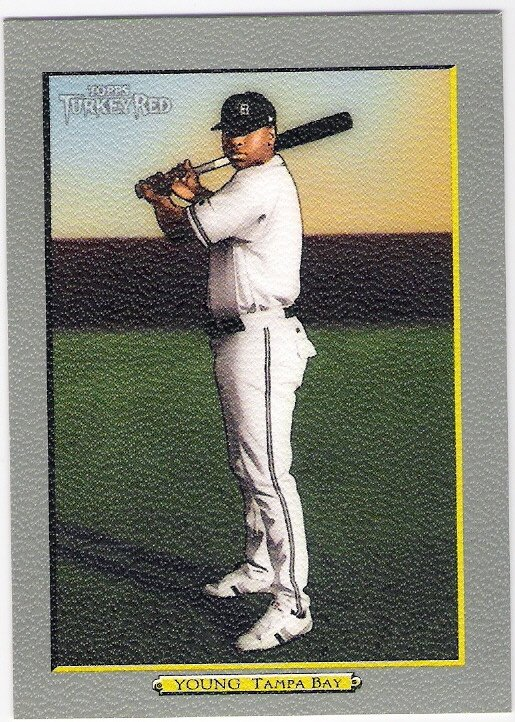 DELMON YOUNG 2005 Topps Turkey Red Card #80 Tampa Bay Devil Rays Baseball FREE SHIPPING