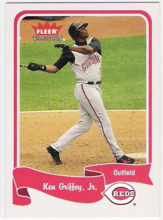 KEN GRIFFEY JR 2004 Fleer Tradition Card #81 Cincinnati Reds FREE SHIPPING Baseball 81