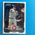 MATT GARZA 2012 Bowman CHROME Card #92 CHICAGO CUBS Baseball FREE SHIPPING 92