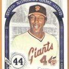 WILLIE MCCOVEY 2016 Topps Allen & Ginter The Numbers Game INSERT Card #NG-70 SAN FRANCISCO GIANTS