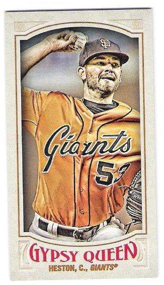 CHRIS HESTON 2016 Topps Gypsy Queen MINI Parallel INSERT Card #203 SAN FRANCISCO GIANTS Baseball 203